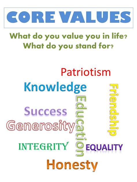 alb exercise    core values achieve life
