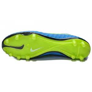 Blue and Green Nike Soccer Cleats
