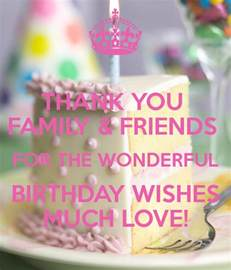 thank you family friends for the wonderful birthday wishes much poster sonyajamesxoxo