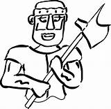 Roman Coloring Axe Soldier Boys Soldiers Awesome Wecoloringpage Cool sketch template