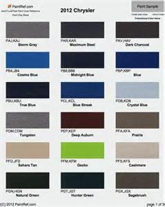 2014 dodge ram color chart paint chips 2012 chrysler fleet