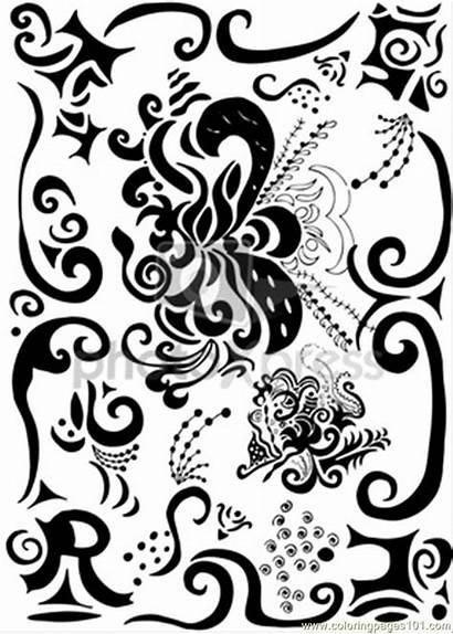 Coloring Pretty Decoration Decorations Pages Es Printable