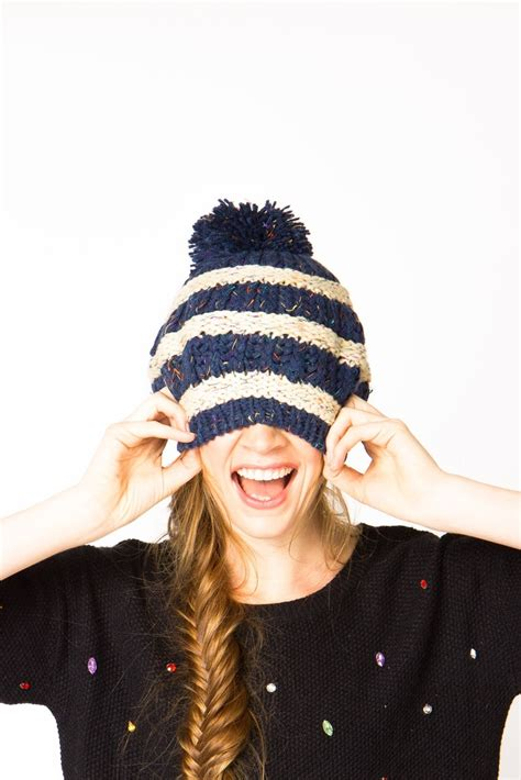 cute hairstyles with winter hats her cus