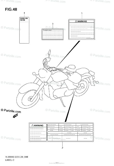 Suzuki Motorcycle Oem Parts Diagram For Label