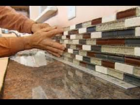 kitchen backsplash stick on tiles how to install a glass tile backsplash this house