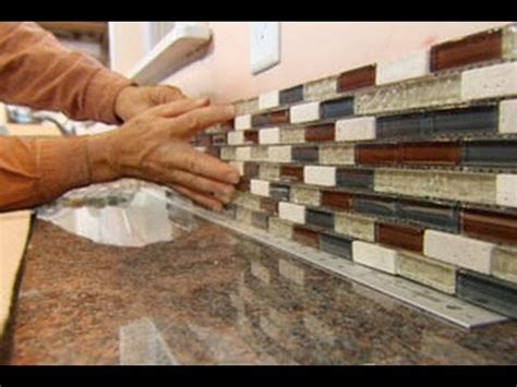 installing kitchen tile backsplash how to install a glass tile backsplash this house