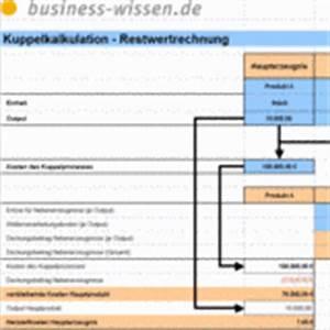Excel Tabelle Berechnen : herstellkosten bei kuppelproduktion berechnen excel tabelle business ~ Themetempest.com Abrechnung