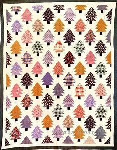 Pieced Quilt Pine Trees 1930