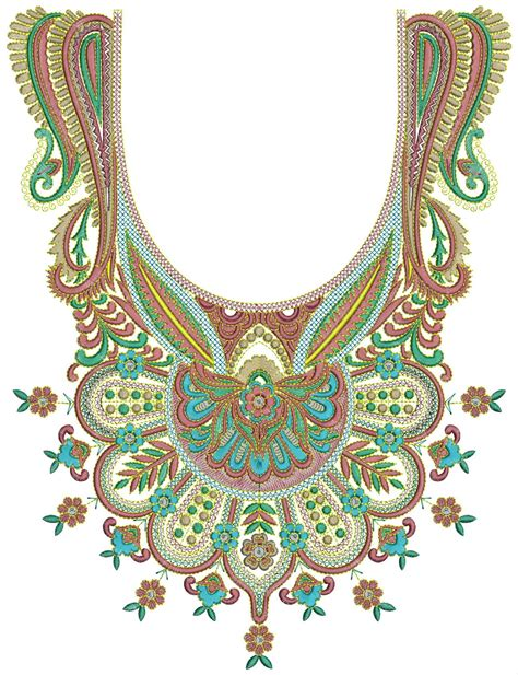 embroidery designs for embroidery neck design