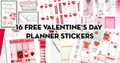 Send that special someone a there is no commitment and you receive numerous advantages: Free Printables - Lovely Planner