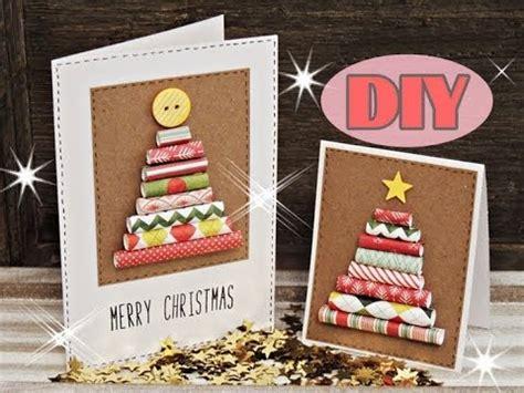 weihnachtskarten selber basteln  weihnachtsbaum christmas card diy youtube