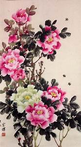 Green Peony - Chinese Painting Painting by Lin Hai