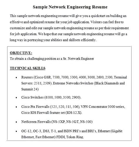 networking sales resume