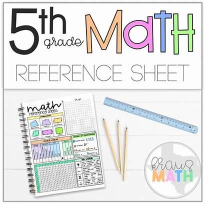 5th Math Grade Reference Sheet Kraus Fifth