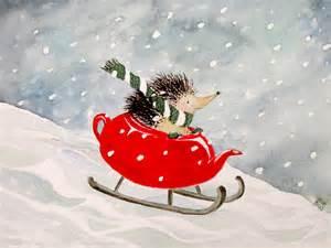Hedgehog Christmas Art