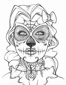Sugar Skull Coloring Page - Coloring Home
