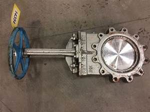 Used 10 U0026quot  Manual Stainless Steel Knfe Gate Valve   Valves