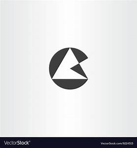 Geometric letter g circle triangle logo icon Vector Image