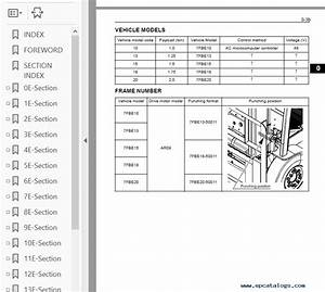 Toyota Electric Forklift Service Manual