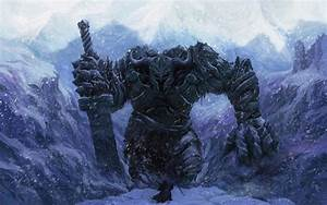 Download the Snowy Stone Golem Wallpaper, Snowy Stone ...
