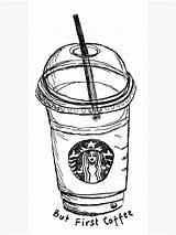 Starbucks Cup Drawing Draw sketch template