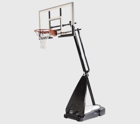 spalding hercules  acrylic portable basketball hoop