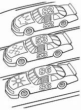 Coloring Race Cars sketch template