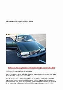 1995 Volvo 850 Workshop Repair Service Manual By Steve