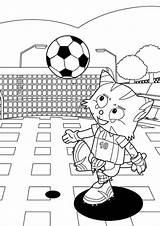 Football Coloring Printable Pages Soccer sketch template
