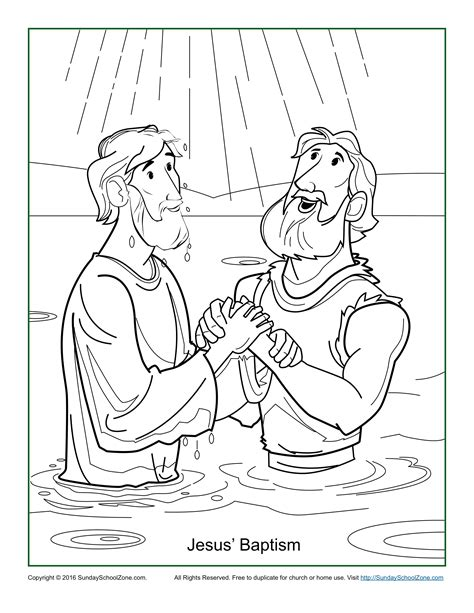 baptism coloring pages jesus baptism coloring page children s bible activities