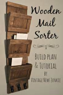 woods vintage home interiors get organized diy wood mail sorter plans and tutorial fox hollow cottage