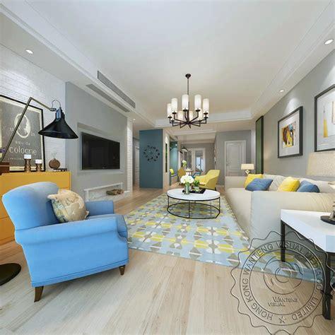 simple american style living room rendering designsimple