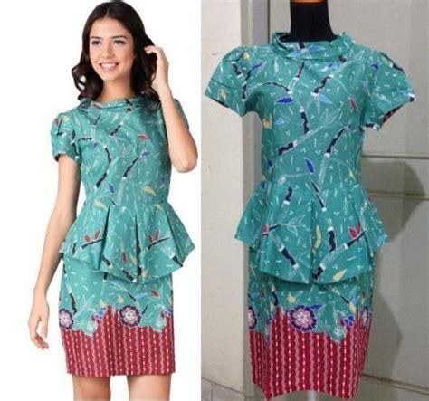 Sekolah Remaja Hamil Mini Dress Model Baju Batik Wanita Modern Untuk Kerja