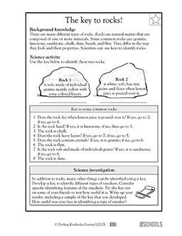 5th grade science worksheets types of rocks 2nd grade