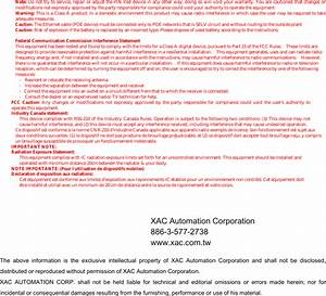 Xac Automation 8006l23cr Pinpad User Manual