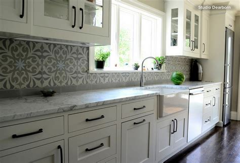 grey and white kitchen tiles white grey kitchen decoration using grey patterned 6958