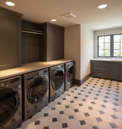 stacked kitchen backsplash gray laundry room design contemporary laundry room thompson custom homes