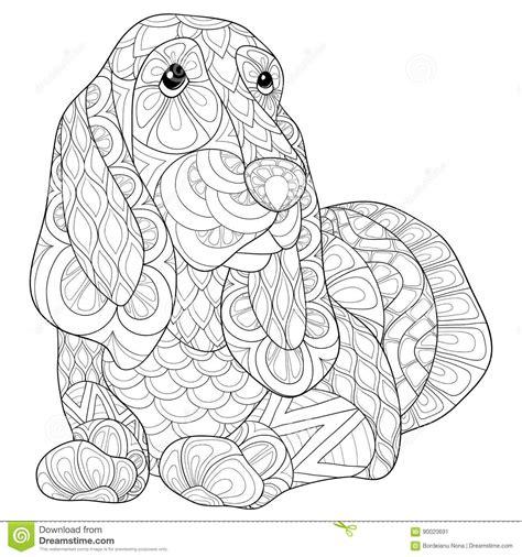 Beagle Kleurplaat by Coloring Page Beagle Stock Vector Illustration