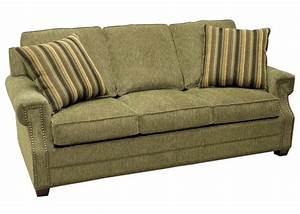 919b semi attached pillow back sofa by lacrosse furniture for Sectional sofa with attached back pillows