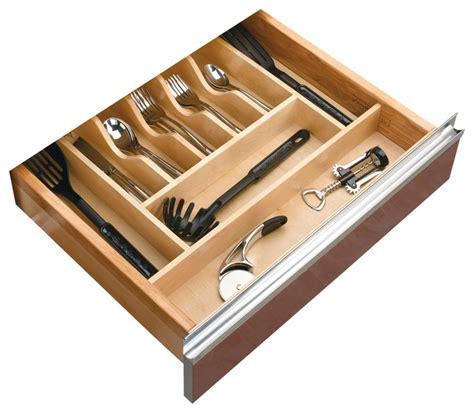 kitchen cabinet tray organizer rev a shelf cutlery tray insert natural transitional