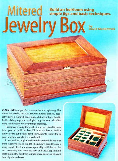 mitered jewelry box plans woodarchivist