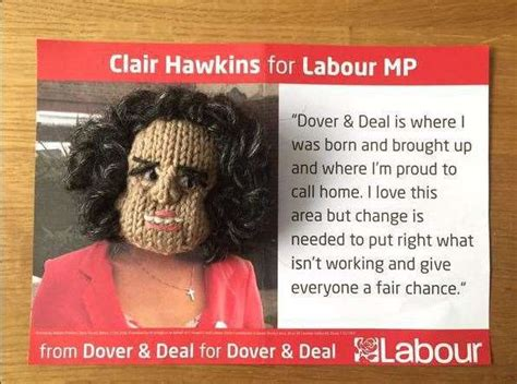 Pat Wilson from Deal has knitted the Conservative and ...