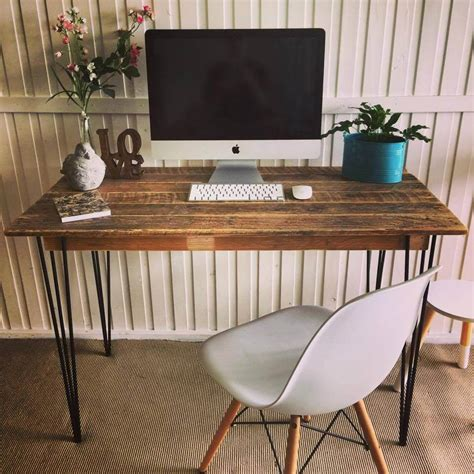 diy desk with hairpin legs 125 awesome diy pallet furniture ideas