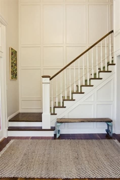 l post height ideas milk and honey wainscoting stairs newel post on last