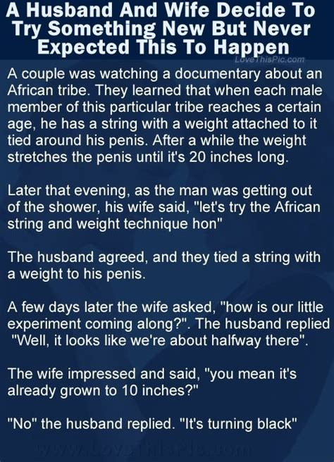 A Husband And Wife Decide To Try Something New But Never Expected This Funny Jokes Story Lol