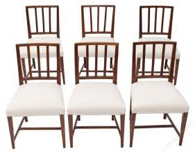 set of 6 georgian dining chairs mahogany antiques atlas