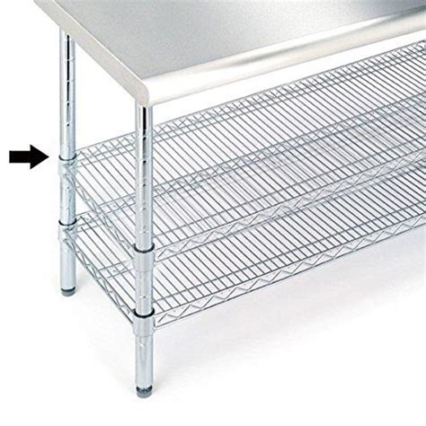 stainless steel work table with two shelves amazon com seville classics nsf listed work table steel