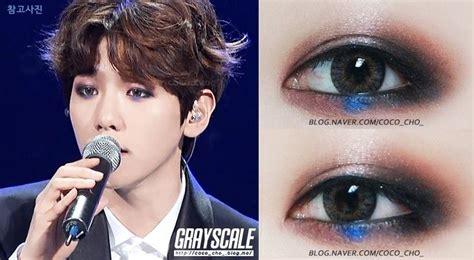Exo's Byun Baekhyun Eye Make Up In Music Bank Mexico Idol