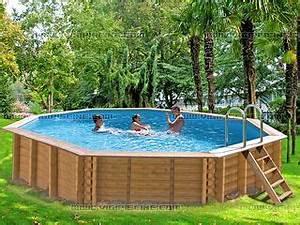Piscine Bois Ronde : kit piscine bois sunbay grenadine ronde x avec kit hors bord sur march ~ Farleysfitness.com Idées de Décoration
