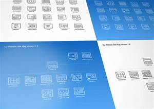 website site map kit product mockups on creative market With powerpoint sitemap template